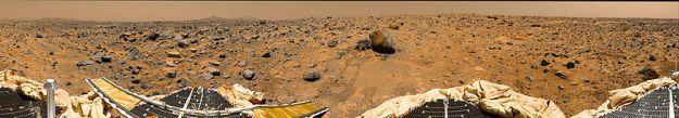 Panorama površine Marsa snimljena s letjelice Pathfinder
