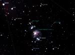 M42 i M43 - foto Stellarium