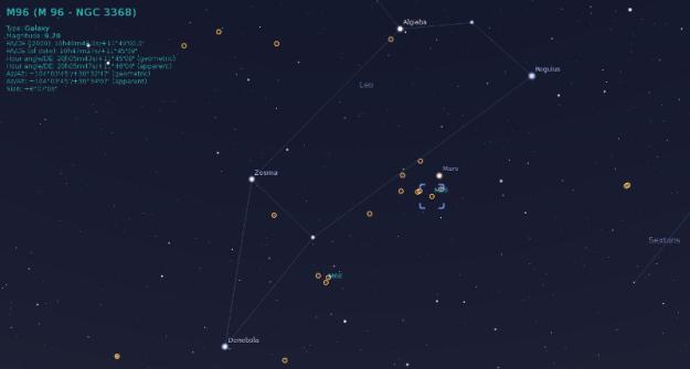 Mars prividno blizu M96