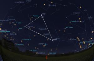 Položaj VLT na nebu ovih dana (oko 21:30)