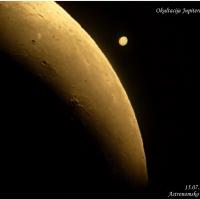 Nekoliko fotografija okultacije Jupitera