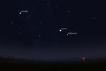 Jupiter, zvezda Aldebaran i Plejade