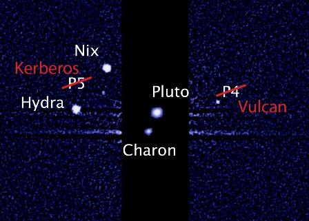 Imena plutonovih satelita - foto Hubble