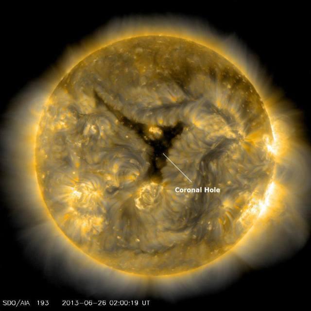 Koronarna rupa - foto: NASA/SDO