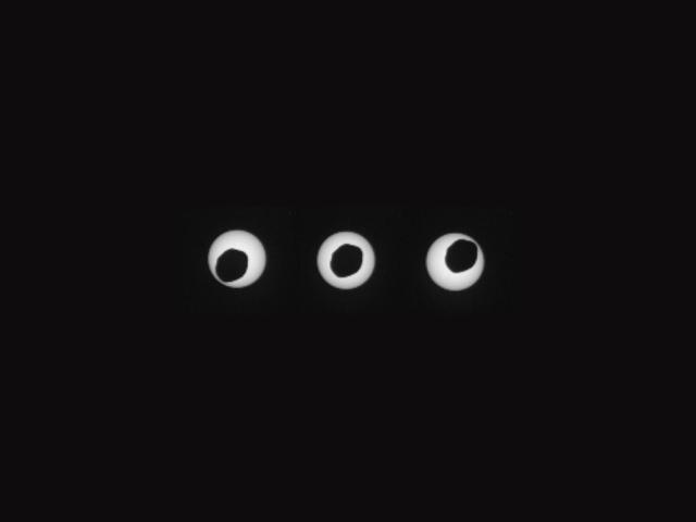 Pomračenje Sunca Fobosom - foto: NASA