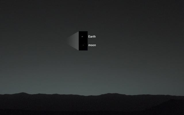 Zemlja i Mesec sa Marsa