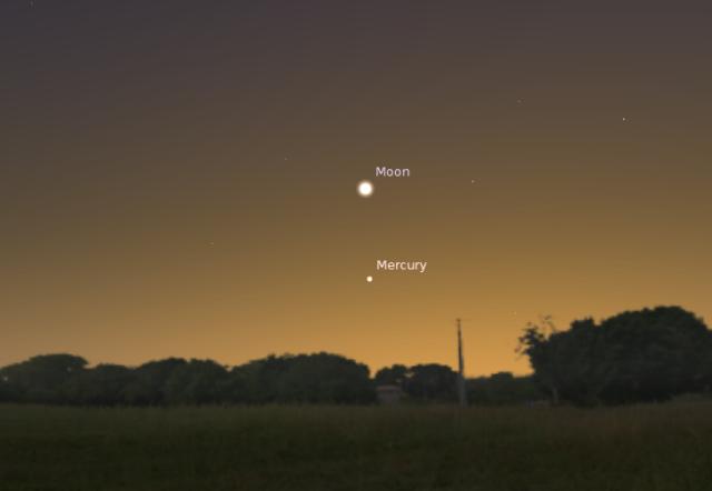Položaj Merkura za 1. februar 2014. godine - foto: Stellarium