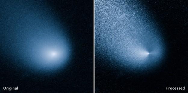 Kometa C/2013 A1 (Siding Spring)  - foto: NASA, ESA, and J.-Y. Li (Planetary Science Institute)
