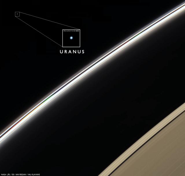 Uran - foto: NASA / JPL-Caltech / SSI / Ian Regan / Val Klavans