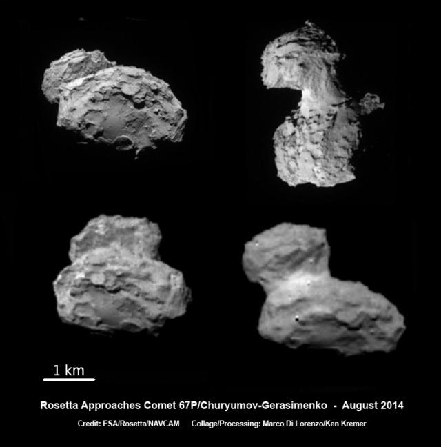 Slike nastale tokom približavanje letelice Rosetta kometi 67/P - foto: ESA