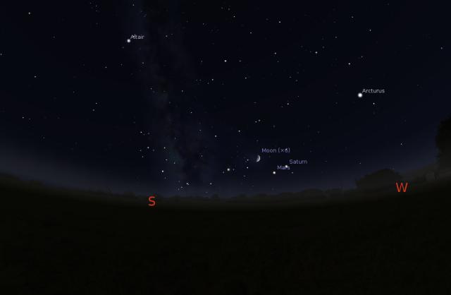 Mlačni put za 01.09.2014. - foto: Stellarium