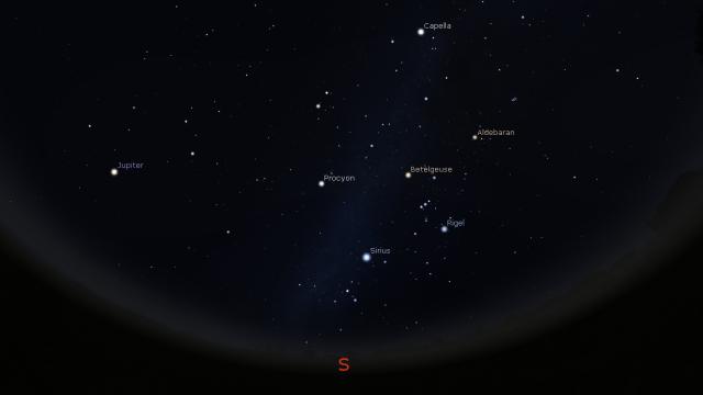 29. februar 2016. godine - -foto: Stellarium