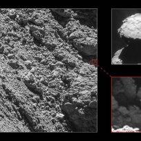 Lender Philae na kometi 67P C-G - foto: ESA/Rosetta