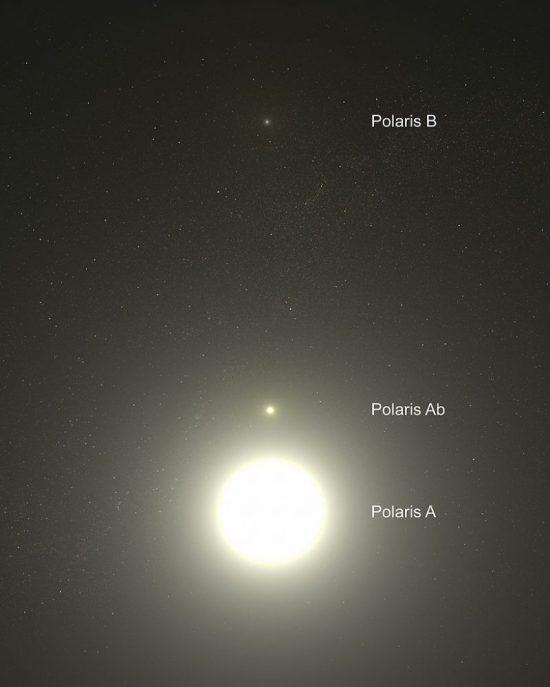Polaris A, AB, B