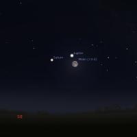 Posmatrajte večeras Mesec, Jupiter i Saturn