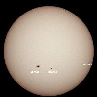 Fotografija današnje velike pege na Suncu