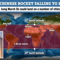 Deo kineske rakete u nekontrolisanom padu